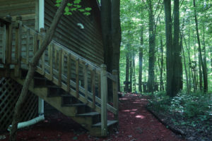 The-Hideaway-Cataract-Lake-Rental-Deck-Stairs-1-Cloverdale-Indiana