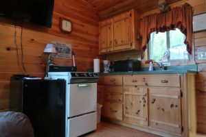 The-View-Cataract-Lake-Log-Cabin-Rental-Inside-Kitchen-1-Cloverdale-Indiana