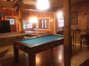 Cove pool table and dinner table